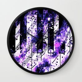 piano keys and music sheet pattern wseec80 Wall Clock