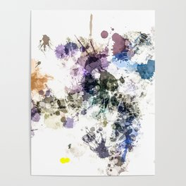 """Oops"" Pastel Paint  Splatter Abstract Poster"