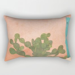 Strong Desert Cactus Rectangular Pillow