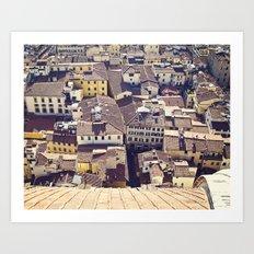 Overlooking Florence Art Print