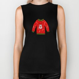 Ugly Christmas Sweater Biker Tank
