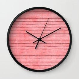Coral wood Texture Wall Clock