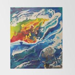 Deep Sea Rainbow Throw Blanket