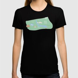 Hyde Park, Kensington Gardens Map | London, England, UK T-shirt