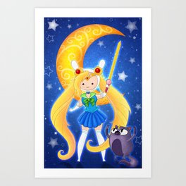 Sailor Fionna & Cake Art Print