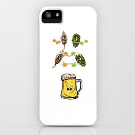 Beer fusion hop malt Anime Funny Gift iPhone Case