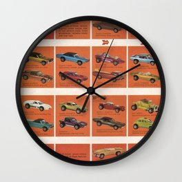 1969 Hot Wheels Redline Catalog Poster No 8 Wall Clock