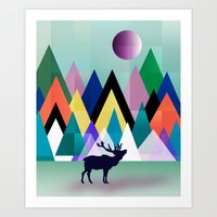 hipster Art Prints featuring hipster by mark ashkenazi