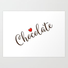 Chocolate Love Art Print