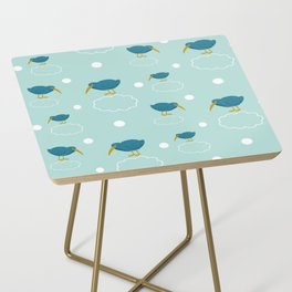 Kiwi birds on the clouds Side Table