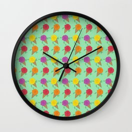 Roses are Rainbow Sorbet Wall Clock