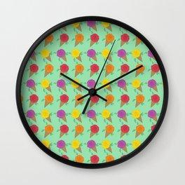 Roses are Rainbow Sorbet Wall Clock