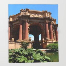 Palace of Fine Arts - Marina District Throw Blanket
