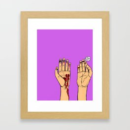 bite the hand that feeds you Framed Art Print