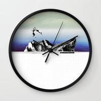 island Wall Clocks featuring Island by Orit Kalev