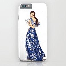 Vintage Hawaiian Print Girl Fashion Illustration  iPhone 6s Slim Case