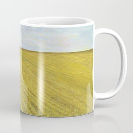 Alone, Farm, Acrylic on Canvas Coffee Mug