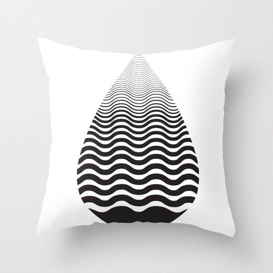 Water Drop Throw Pillow