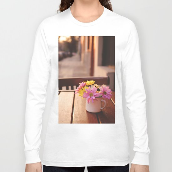 Flowers in the street Long Sleeve T-shirt