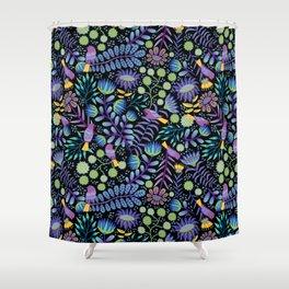 Thistle Garden - Dark Shower Curtain