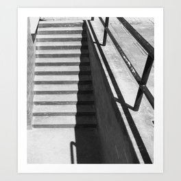 'Steps and Shadow' Urban Photographic Print Art Print