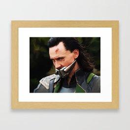 Loki Digital Painting  Framed Art Print