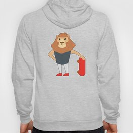 Lion as Skater with Skateboard Hoody
