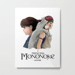 Ashitaka x Mononoke Metal Print