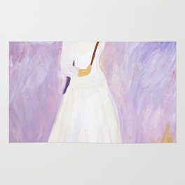 lady in white Rug