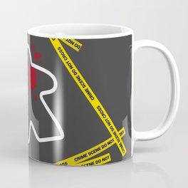 Dead Meeple Crime Scene Coffee Mug