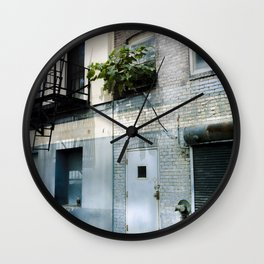 Blue Street Abstracts 5 Wall Clock