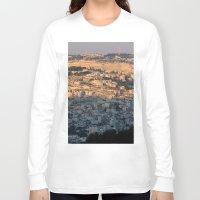israel Long Sleeve T-shirts featuring Jerusalem Living in Israel by Rachel J