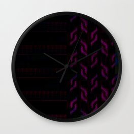 Purple Abstract Wall Clock