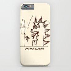 Aberdeen - dinosaur police sketch iPhone 6s Slim Case