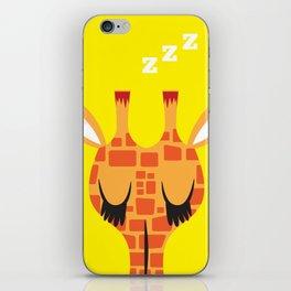 Sleepy Giraffe iPhone Skin