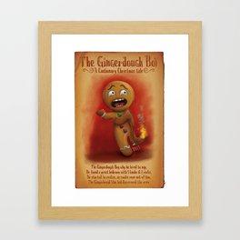 The Gingerdough Boy(A Cautionary Christmas Tale) Framed Art Print