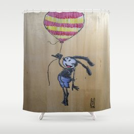 Balloon Travel Shower Curtain
