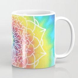 RAINBOW TIE DYE MANDALA Coffee Mug
