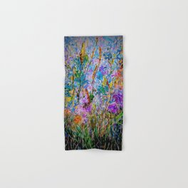 Meadow Flowers and Grass Abstract by OLena Art Hand & Bath Towel