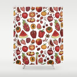 Red Food Shower Curtain