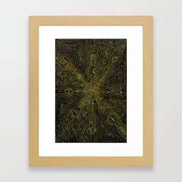 Heart of the crazy lines Framed Art Print