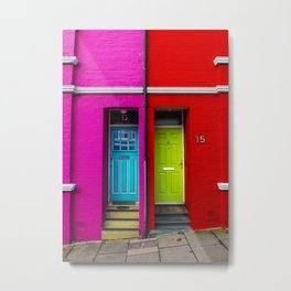 Colored doors Metal Print