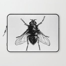 black and white fly Laptop Sleeve