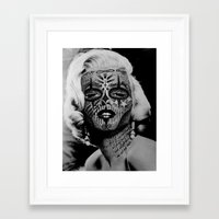 monroe Framed Art Prints featuring Monroe by mothafuc