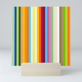 Multicolored Retro Stripes Mngwa Mini Art Print
