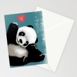Panda Love (Color) Stationery Cards