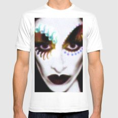 DIAMANDA Mens Fitted Tee White MEDIUM