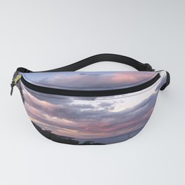 Pink clouds during sunset Fanny Pack
