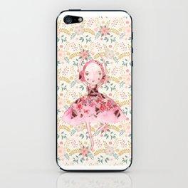Isabella Bellarina Dancing in Flowers iPhone Skin
