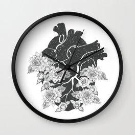 Botanical Heart Wall Clock